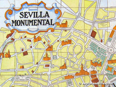 Exploresevillecom Map of Sevilla and Other Cities in Spain